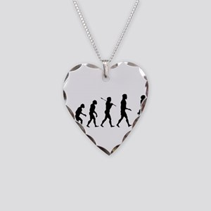 Evolution of Football Necklace Heart Charm