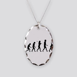 Evolution of Football Necklace Oval Charm