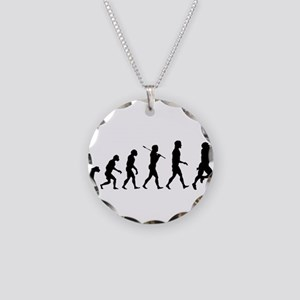 Evolution of Football Necklace Circle Charm