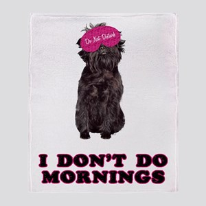 Affenpinscher Mornings Throw Blanket