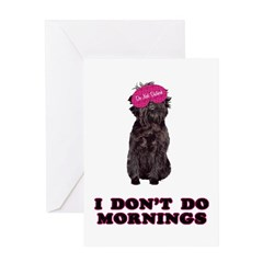 Affenpinscher Mornings Greeting Card