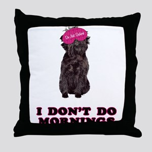Affenpinscher Mornings Throw Pillow