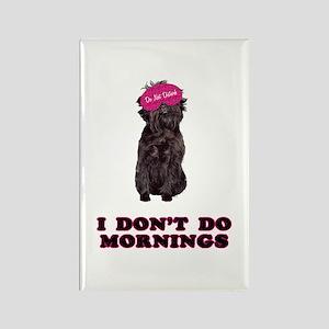 Affenpinscher Mornings Rectangle Magnet