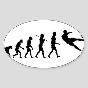 Viva La Evolucion De Futbol Sticker (Oval)