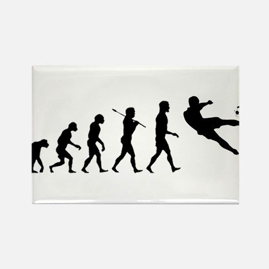 Viva La Evolucion De Futbol Rectangle Magnet (100