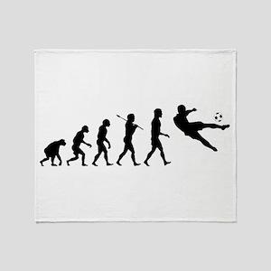 Viva La Evolucion De Futbol Throw Blanket