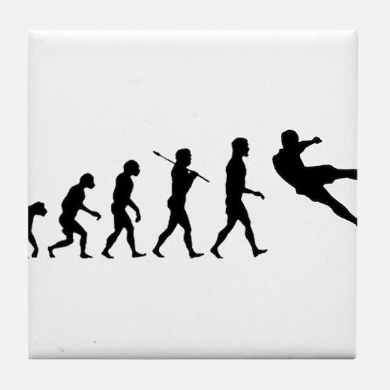 Viva La Evolucion De Futbol Tile Coaster