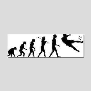 Viva La Evolucion De Futbol Car Magnet 10 x 3
