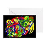 GodWeird Abstract Art Greeting Card
