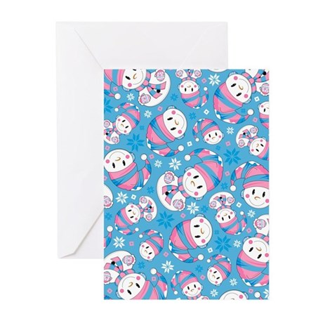 Cute Christmas Snowman Greeting Cards (Pk of 10)