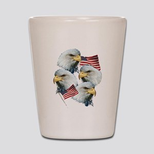 Eagles and Flags Shot Glass