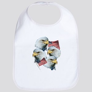 Eagles and Flags Bib