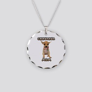 Chihuahua Mom Necklace Circle Charm