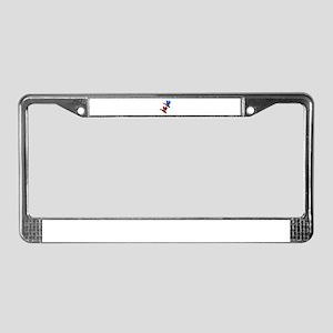 COLORFUL FLOCK License Plate Frame
