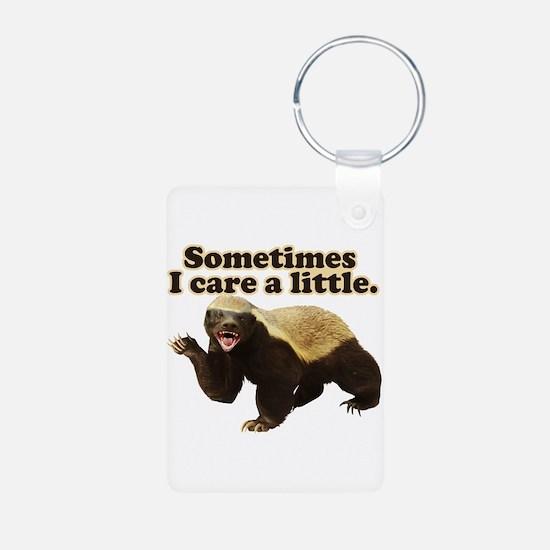 Honey Badger Sometimes I Care Keychains