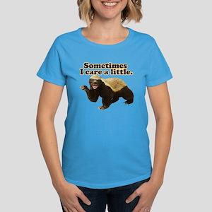 Honey Badger Sometimes I Care Women's Dark T-Shirt