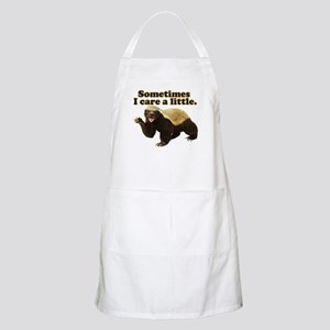 Honey Badger Sometimes I Care Apron