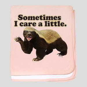 Honey Badger Sometimes I Care baby blanket