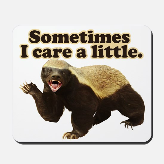 Honey Badger Sometimes I Care Mousepad