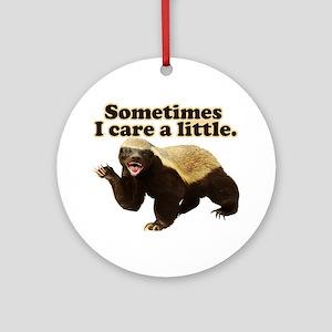 Honey Badger Sometimes I Care Ornament (Round)