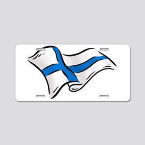 Finnish Flag Aluminum License Plate
