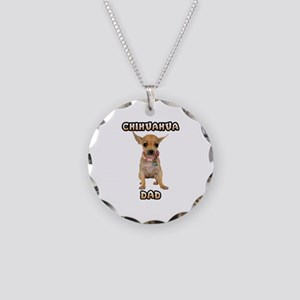 Chihuahua Dad Necklace Circle Charm