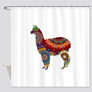 THE LLAMA WAY Shower Curtain
