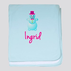 Ingrid the snow woman baby blanket