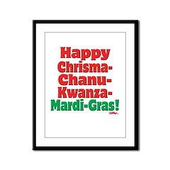 Happy HCCKMG! Framed Panel Print