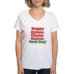Happy HCCKMG! Women's V-Neck T-Shirt
