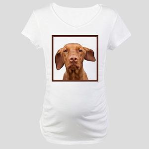 Staring Vizsla Maternity T-Shirt