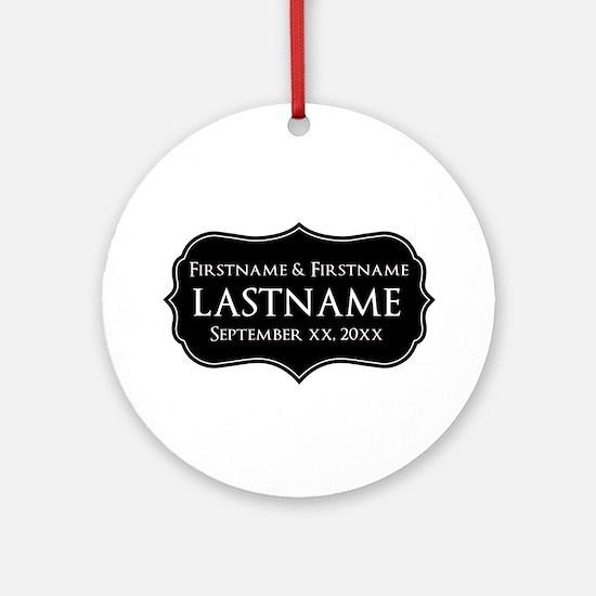 Personalized Wedding Nameplat Ornament (Round)