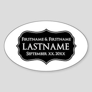 Personalized Wedding Nameplat Sticker (Oval)