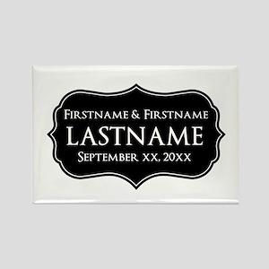 Personalized Wedding Nameplat Rectangle Magnet (10