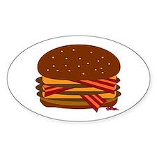Bacon Triple Cheese! Sticker (Oval)
