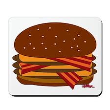 Bacon Triple Cheese! Mousepad