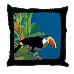 Toucan Jungle Throw Pillow