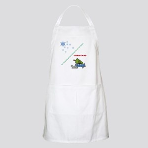 Christmas family tree cutting Apron
