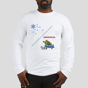 Christmas family tree cutting Long Sleeve T-Shirt