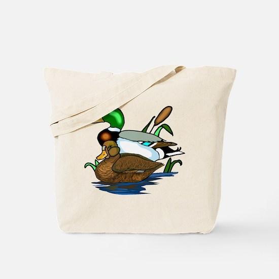 Mallard Ducks Tote Bag