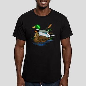 Mallard Ducks Men's Fitted T-Shirt (dark)