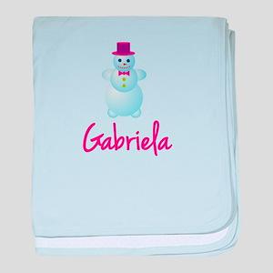 Gabriela the snow woman baby blanket