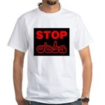 Stop AIDS White T-Shirt