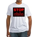Stop AIDS Fitted T-Shirt