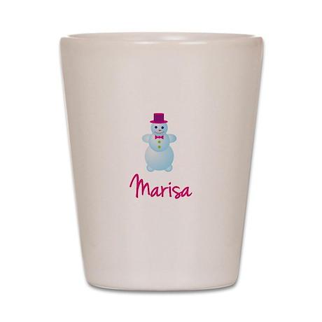 Marisa the snow woman Shot Glass