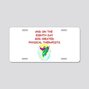 physical therapists Aluminum License Plate
