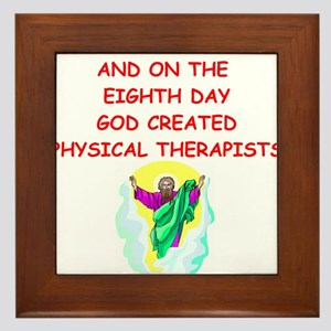 physical therapists Framed Tile