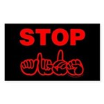 Stop AIDS Rectangle Sticker