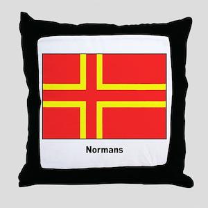 Norman Ancestry Flag Throw Pillow