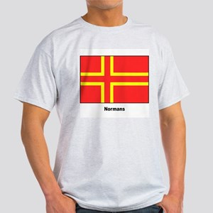 Norman Ancestry Flag (Front) Ash Grey T-Shirt